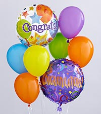 The Congratulations Balloon Bunch by FTD&reg;