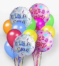"""It 's A Girl! "" Balloon Bunch"
