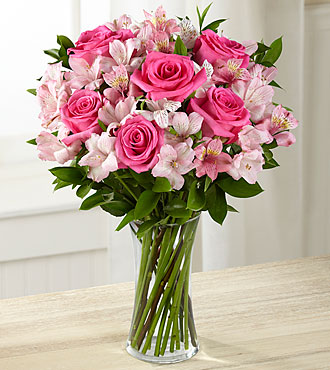 Flowers Online Dreamland Pink Flowers - 14 Stems - VASE INCLUDED