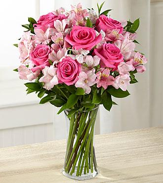 Flowers Online Dreamland Pink Flowers - Vase Included