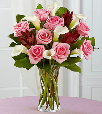 Fabled Beauty Bouquet - 13 Stems - VASE INCLUDED