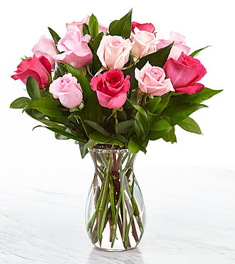 Pink roses great gifts for mothers day valentines day for Pink roses flower arrangements