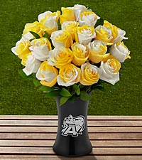 The FTD® US Military Academy® Black Knights® Rose Bouquet - VASE INCLUDED