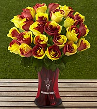 The FTD&reg; Arizona State University&reg; Sun Devils&reg; Rose Bouquet - VASE INCLUDED