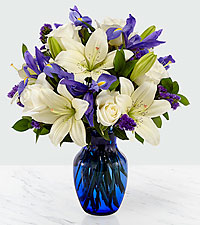 Ever in My Thoughts Sympathy Bouquet - Blue & White