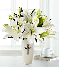 The Faithful Blessings&trade; Bouquet by FTD &reg; - VASE INCLUDED