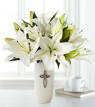 The Faithful Blessings&trade; Bouquet by FTD&reg; - VASE INCLUDED