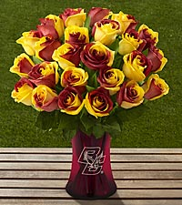 The FTD ® Boston College Eagles ® Rose Bouquet - VASE INCLUDED