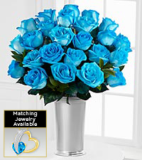 Floral Jewels&#153; December Blue Topaz Birthstone Bouquet