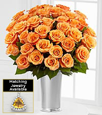 Floral Gemstone Orange Energy Citrine Rose Bouquet