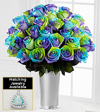 Floral Gemstone Alluring Hues Opal Rose Bouquet