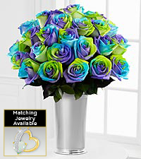 Floral Jewels&#153; October Opal Birthstone Bouquet