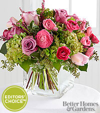The FTD&reg; Editors' Choice Blooms of Hope Bouquet by Better Homes and Gardens&reg; - VASE INCLUDED