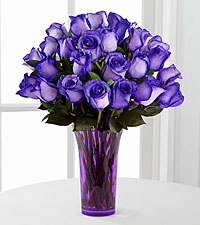 Popping Purple Fiesta Rose Bouquet