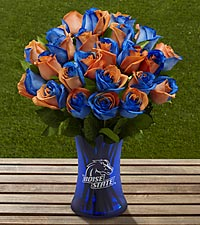 The FTD&reg; Boise State University&trade; Broncos&trade; Rose Bouquet - VASE INCLUDED