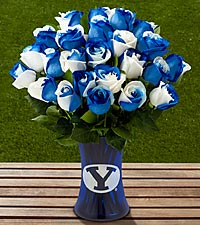 The FTD® Brigham Young University® Cougars™ Rose Bouquet - VASE INCLUDED
