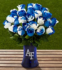 The FTD® US Air Force Academy™ Fightin' Falcons™ Rose Bouquet - VASE INCLUDED