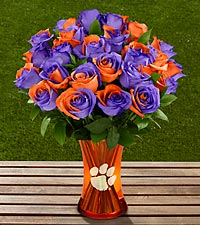 The FTD ® Clemson University™ Tigers™ Rose Bouquet - VASE INCLUDED