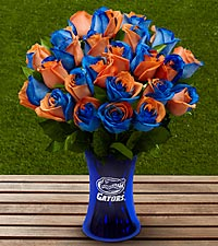 The FTD® University of Florida® Gators® Rose Bouquet - VASE INCLUDED