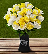 The FTD® Georgia Tech® Yellow Jackets® Rose Bouquet - VASE INCLUDED