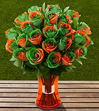 The FTD® University of Miami Hurricanes® Rose Bouquet - VASE INCLUDED