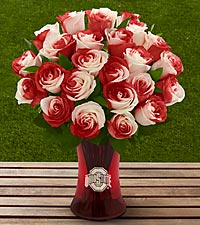 The FTD ® Ohio State University ® Buckeyes ® Rose Bouquet - VASE INCLUDED