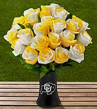 The FTD® University of Colorado Buffaloes™ Rose Bouquet - VASE INCLUDED