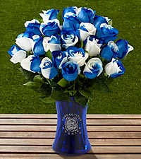 The FTD® University of Connecticut® Huskies™ Rose Bouquet - VASE INCLUDED