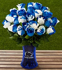The FTD ® Penn State ® Nittany Lions ® Rose Bouquet - VASE INCLUDED