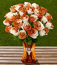 The FTD&reg; University of Texas&reg; Longhorns&reg; Rose Bouquet - VASE INCLUDED