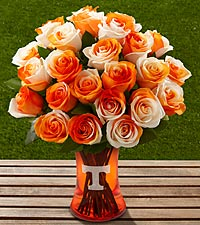 The FTD® University of Tennessee® Vols® Rose Bouquet - VASE INCLUDED