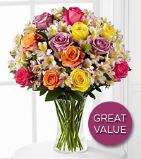 Colorful Connection Bouquet - VASE INCLUDED