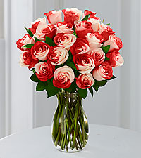 You Are Loved Rainbow Rose Bouquet - VASE INCLUDED