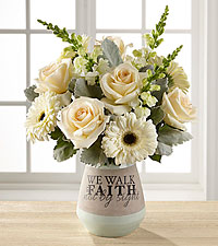 The FTD ® We Walk by Faith Bouquet- VASE INCLUDED