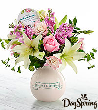 DaySpring ® Life 's Blessings Bouquet - VASE INCLUDED