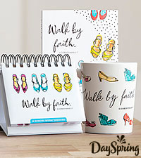 DaySpring ® Walk By Faith - Journal, Mug, and Perpetual Calendar Set