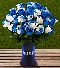 The FTD&reg; Duke University&reg; Blue Devils&reg; Rose Bouquet - VASE INCLUDED