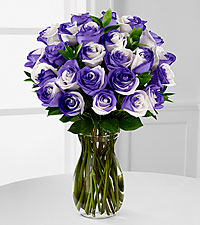 Lilac Inspirations Rainbow Rose Bouquet - VASE INCLUDED