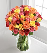 The FTD® Mixed 'Petite' Roses Bouquet - VASE INCLUDED