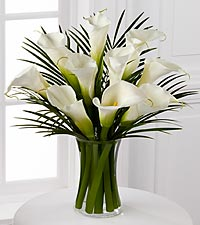 Endless Elegance Calla Lily Bouquet - VASE INCLUDED