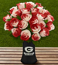 The FTD® Georgia® Bulldogs® Rose Bouquet - VASE INCLUDED