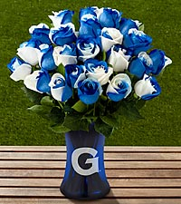 The FTD® Georgetown University® Hoyas® Rose Bouquet - VASE INCLUDED