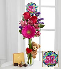 Get Well Hugs Bouquet - VASE INCLUDED