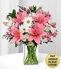 In the Presence of Pink Mixed Bouquet - VASE INCLUDED