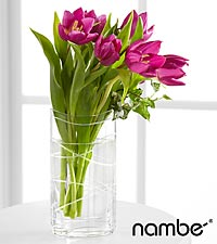 Veranda Views Tulip Bouquet in Crystal Namb&eacute; Vase - 6 Stems