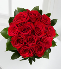 True Love Valentine Rose Bouquet - 12 Stems - No Vase