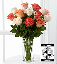 Wishful World Fair Trade Rose Bouquet - 12 Stems - VASE INCLUDED