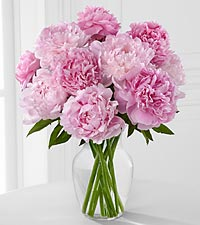 Picture Perfect Peony Bouquet - 10 Stems - VASE INCLUDED