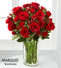 Heart's Truth Bouquet in Waterford&reg; - 13 Stems - VASE INCLUDED