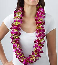 Purple Paradise Orchid Lei